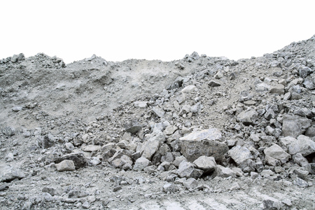 Ore containing chrysotile asbestos. The deposit of chrysotile asbestos, open mining.