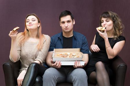 Pizza jealous girls.