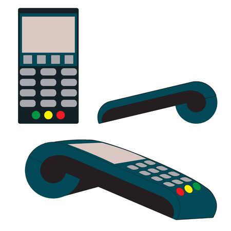 Device for servicing bank cards of clients, non-cash payment through the terminal.