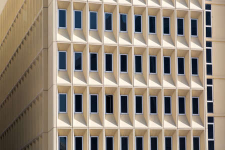 A geometrically interesting ideal building. Abstract image architecture of modern construction 2020 ideal building.