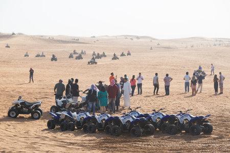 Dubai, United Arab Emirates 03 06 2020: Dubai desert tour. editorial.