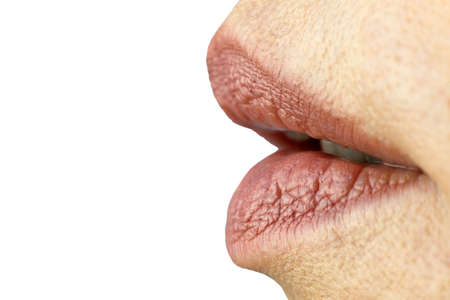 Female mouth, slightly parted lips sexually. Close-up. Standard-Bild
