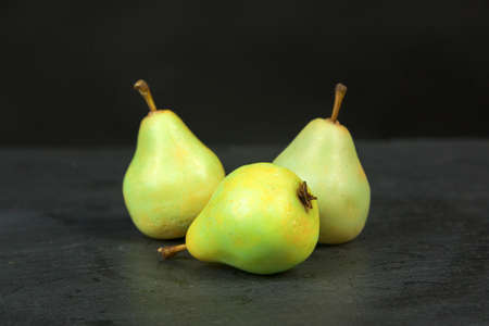 Fragrant handmade soap the form of juicy pears.