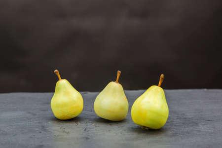 Fragrant handmade soap in form of juicy pears. 版權商用圖片