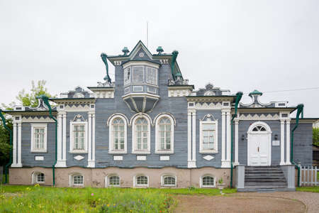 Russia, Irkutsk-July 30, 2021. House of the Decembrist Trubetskoy, Editorial. 新聞圖片