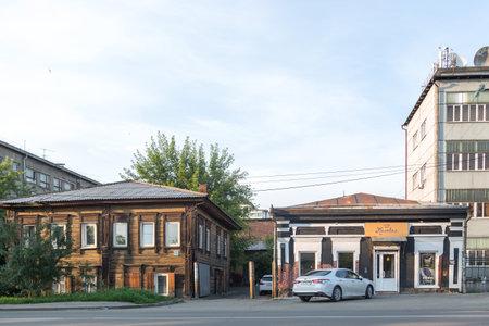 Irkutsk, Russia - July 26, 2021, Historic building of 18th century.
