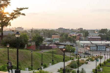 Irkutsk, Russia - July 25, 2021, Observation deck above the city