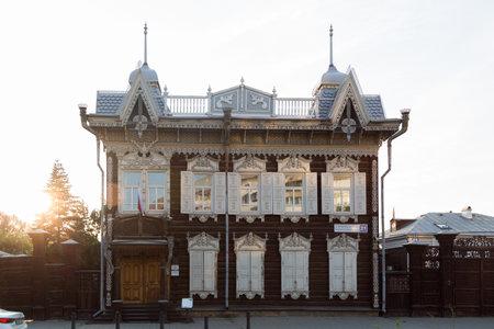 Irkutsk, Russia - July 26, 2021, Historic building of the 18th century. 新聞圖片