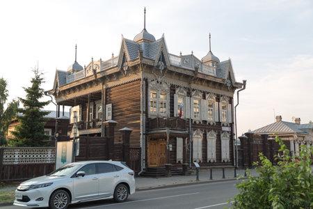 Irkutsk, Russia - July 26, 2021 Historic building of the 18th century