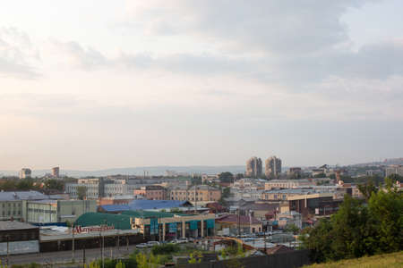 Irkutsk, Russia - July 25, 2021, Observation deck above the city,