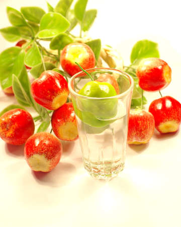 green apple and cup Stock Photo - 12945809