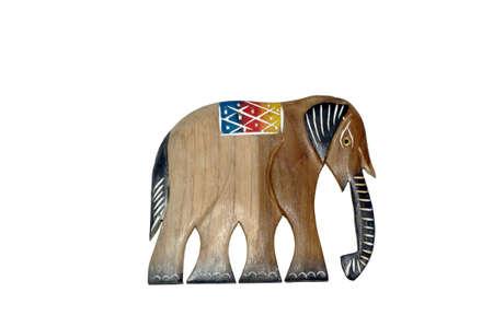decreasing in size: Elephant legno Archivio Fotografico