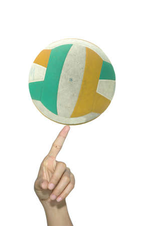Volleyball on the finger Stock Photo - 13924134