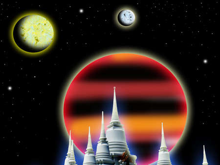 Temple and the universe photo