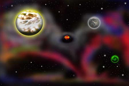 zwart gat: Stelt u zich eens een zwart gat in de ruimte Stockfoto