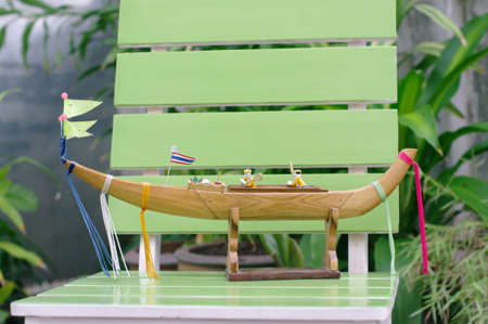 Model rowboat from Thailand