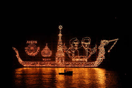 beauteous: Boats decorated with flames