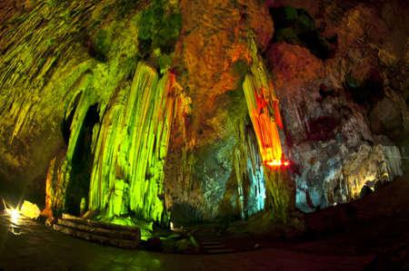stalagmite: Caving in Thailand