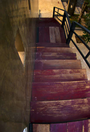 endangering: Way down the stairs Stock Photo
