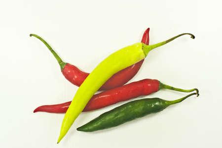 Photo provided pepper white background