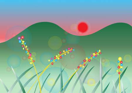 venation: Beautiful sunset and circle background image