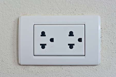 Power socket on the wall