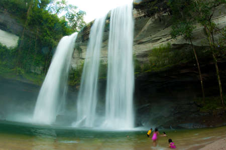 Deep forest Waterfall Huai Luang National Park, Ubon Ratchathani Thailand