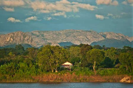 parc naturel: high mountain view near the village,Nakhonphanom ,Thailand