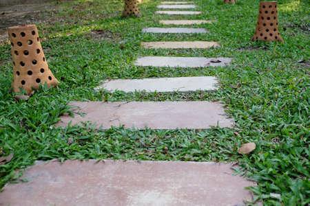 The garden walkways Stock Photo