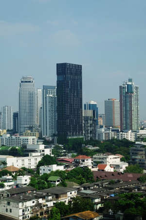 From a high angle Bangkok city photo