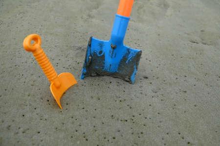 Children is toys for sand shovel Stock Photo