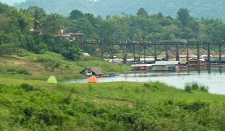 Fishing village in Thailand Stock Photo