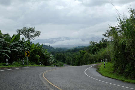 curve road: Curve road on mountain