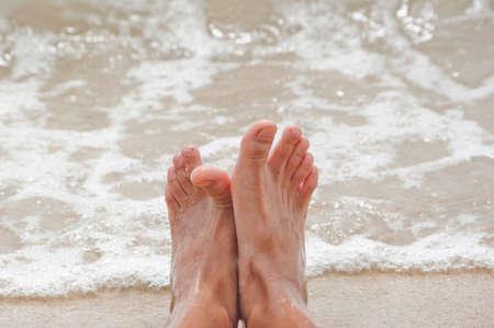 seas: Foot seas and small waves Stock Photo