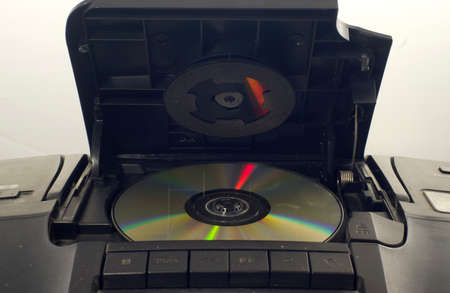 A vintage cd player with cd