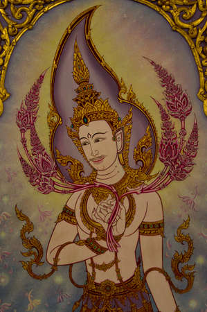 exquisite fairy: Pattern Thai style in temple