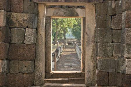 Old ruin castle (sdok kok thom) in Thailand