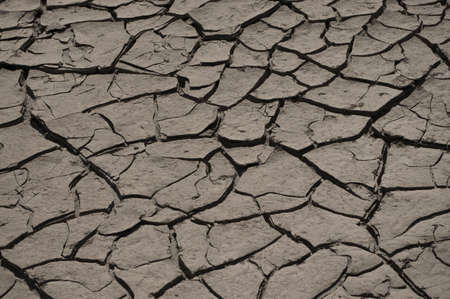Soil breaks from the drought Stock Photo