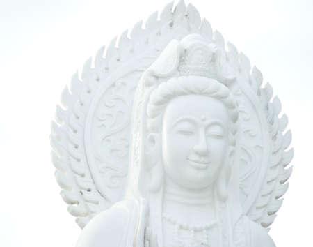 Guan Im statue in temple Thailand
