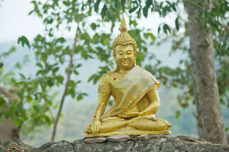 buddha statue in temple in thailand Stock Photo