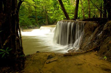 huai mae khamin waterfall kanchanaburi