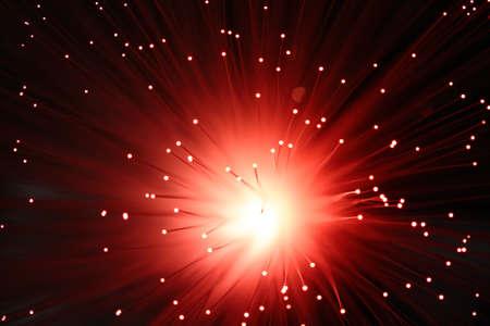 fibre optique: Fibre optique Lumi�re Explode Banque d'images