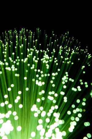 Green Fiber Optic Cables