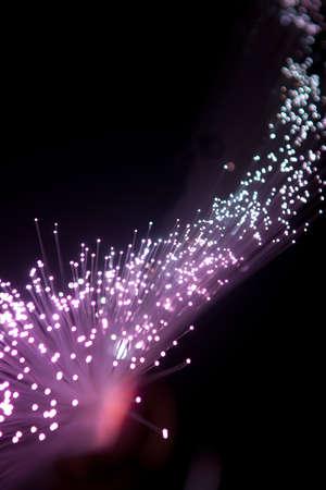 Purple Fiber Optic Cables
