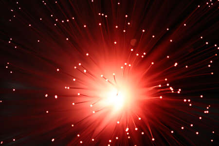 Fiber Optic Light Explode 스톡 사진