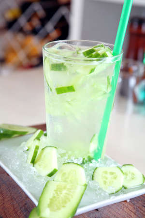 Cucumber Coctail Stock Photo