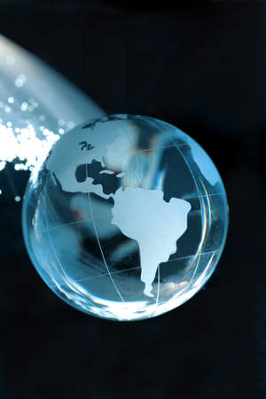 Fiber optic and globe Stock Photo - 19411329