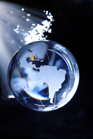 Fiber optic and globe Stock Photo - 19411360