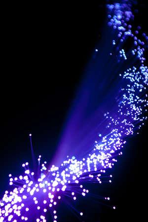Blue Fiber Optic Cables Stock Photo