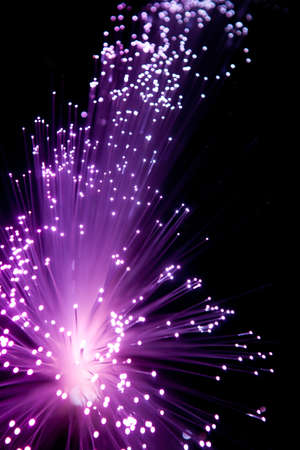 Purple Fiber Optic Light Looks like Explode